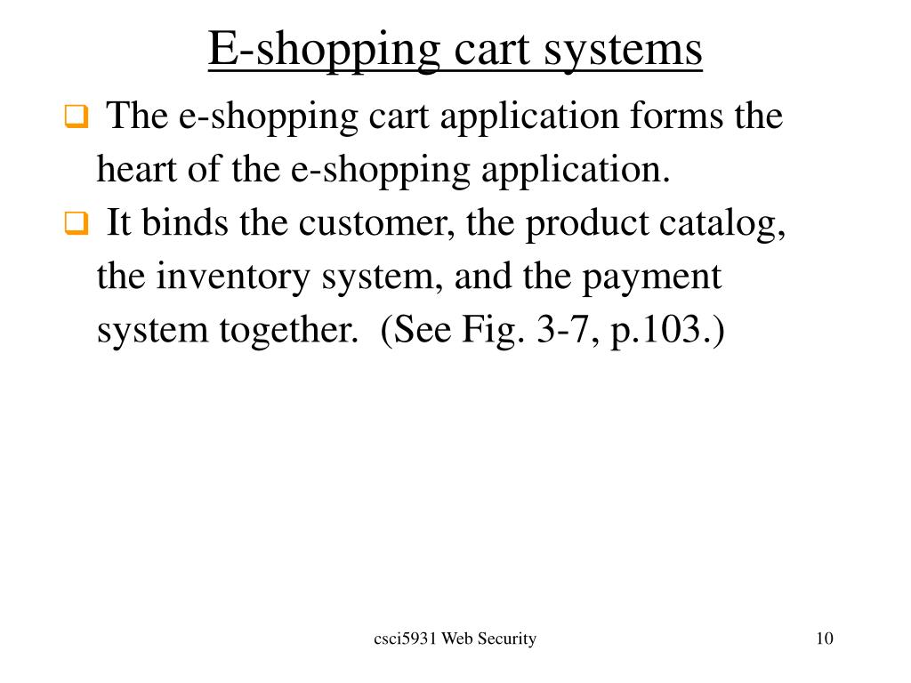E-shopping cart systems
