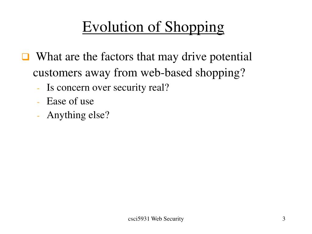 Evolution of Shopping