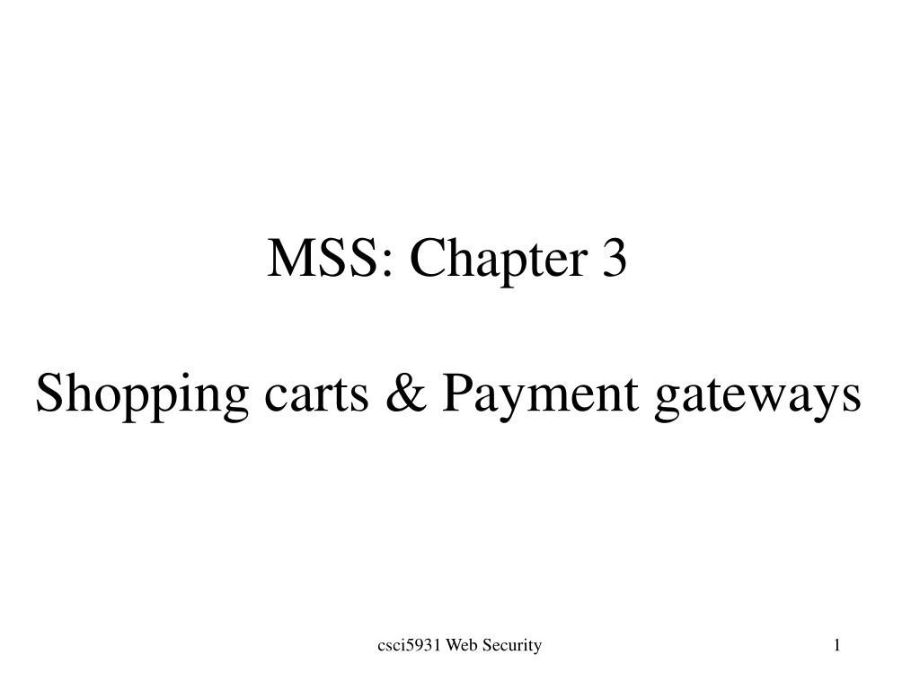MSS: Chapter 3