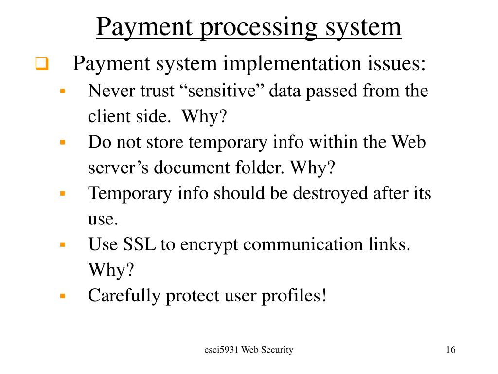 Payment processing system