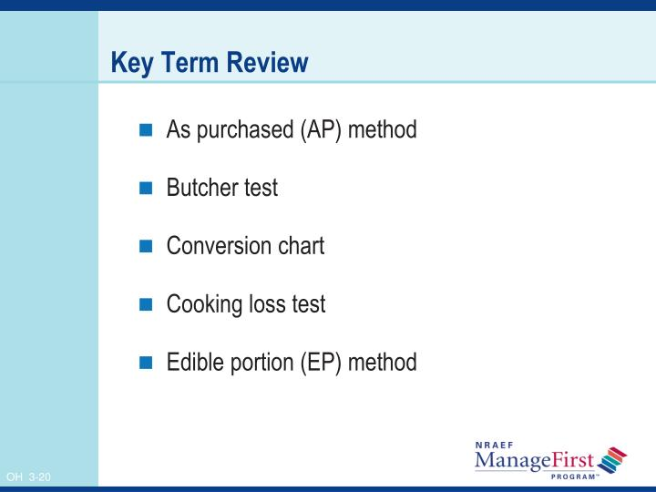 Key Term Review