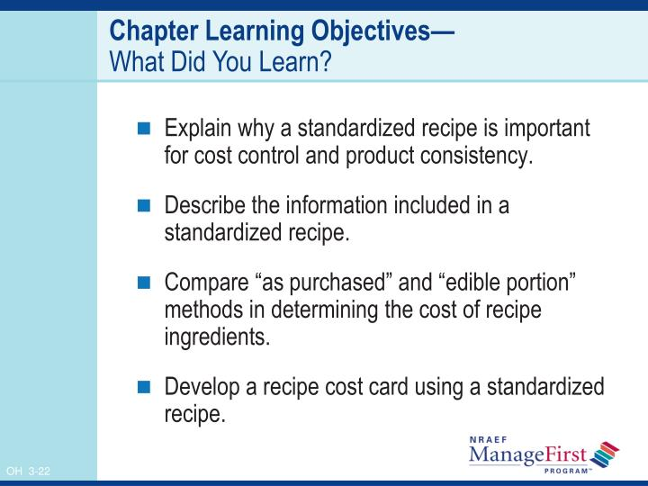 Chapter Learning Objectives—