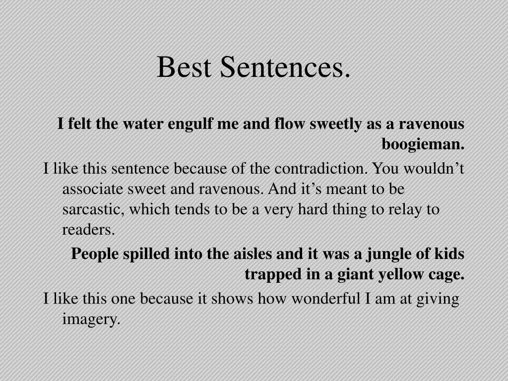 Best Sentences.