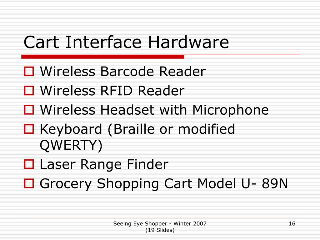 Cart Interface Hardware