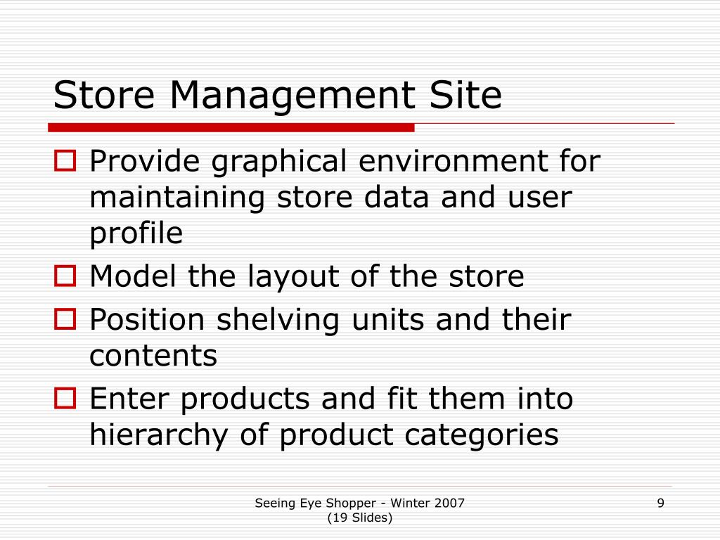Store Management Site
