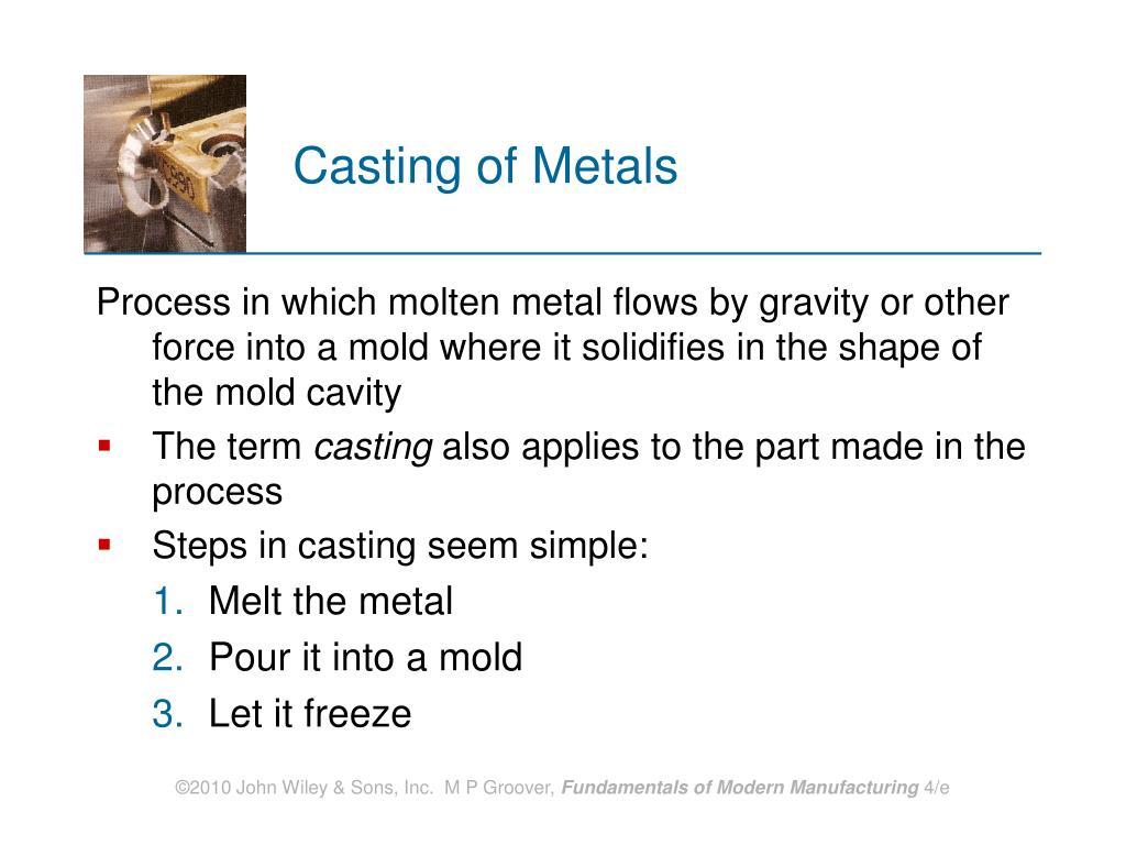 Casting of Metals
