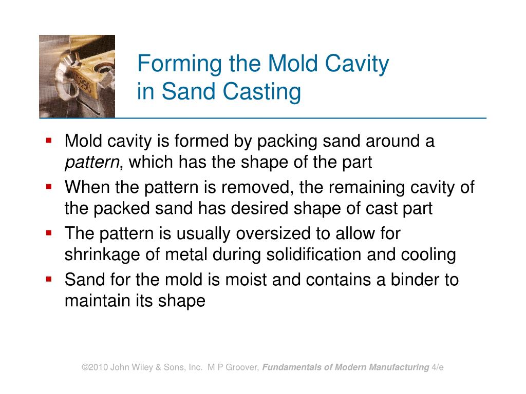 Forming the Mold Cavity