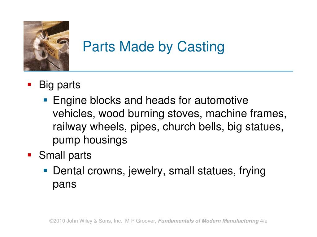 Parts Made by Casting