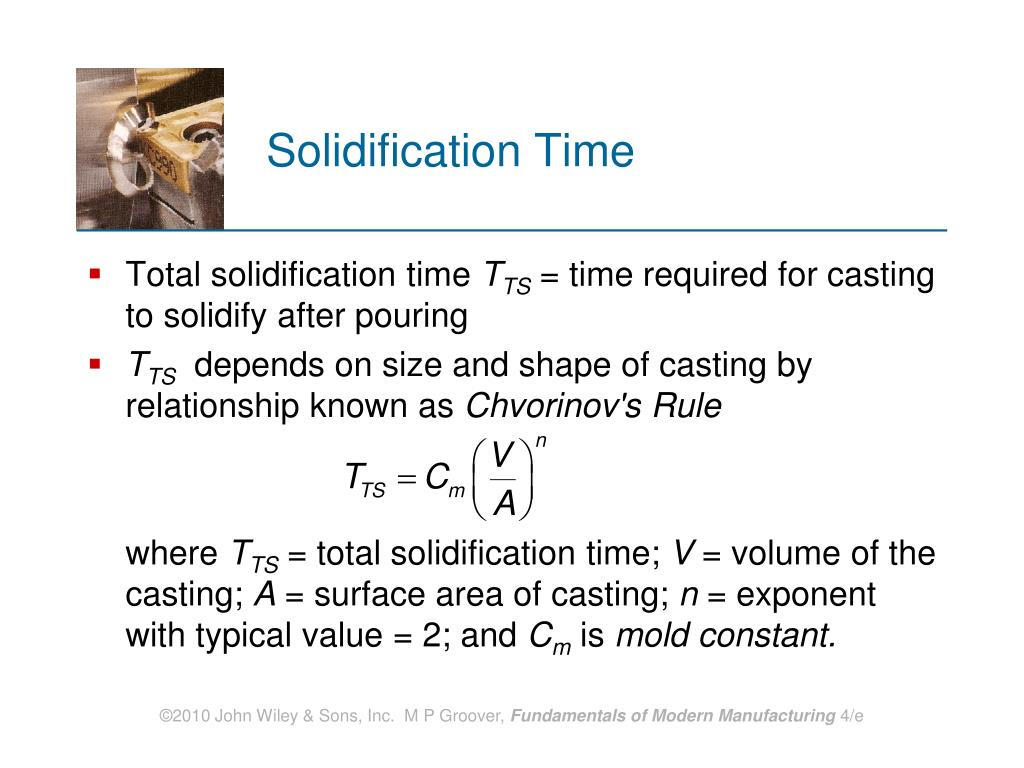Solidification Time