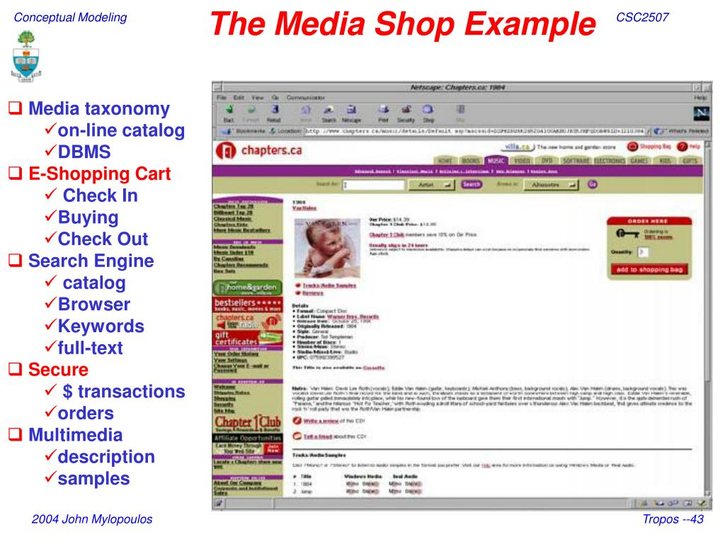 The Media Shop Example