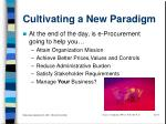 cultivating a new paradigm