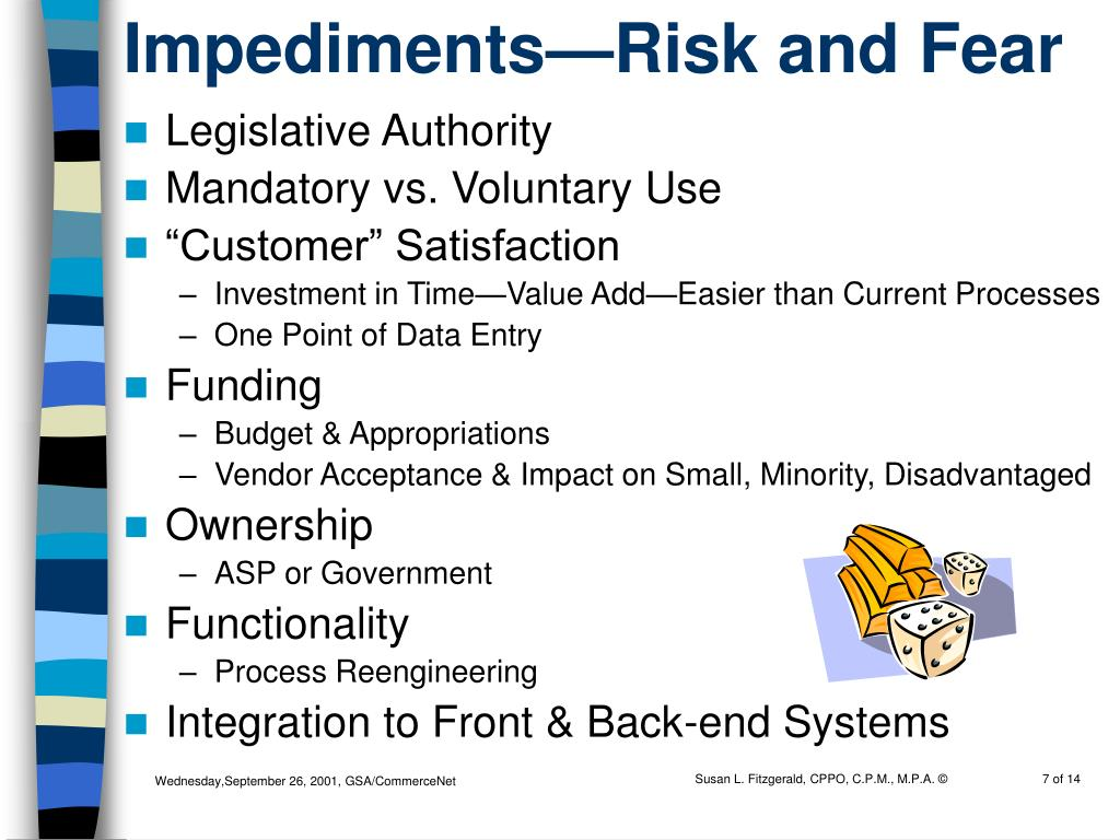 Impediments—Risk and Fear