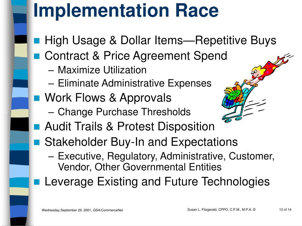 Implementation Race