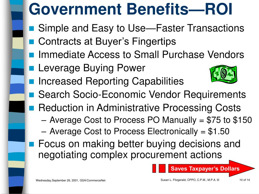 Government Benefits—ROI