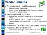 vendor benefits