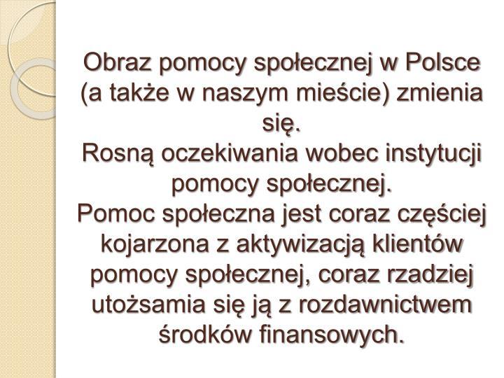 Obraz pomocy społecznej w Polsce