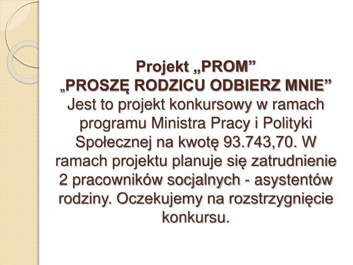 """Projekt """"PROM"""""""