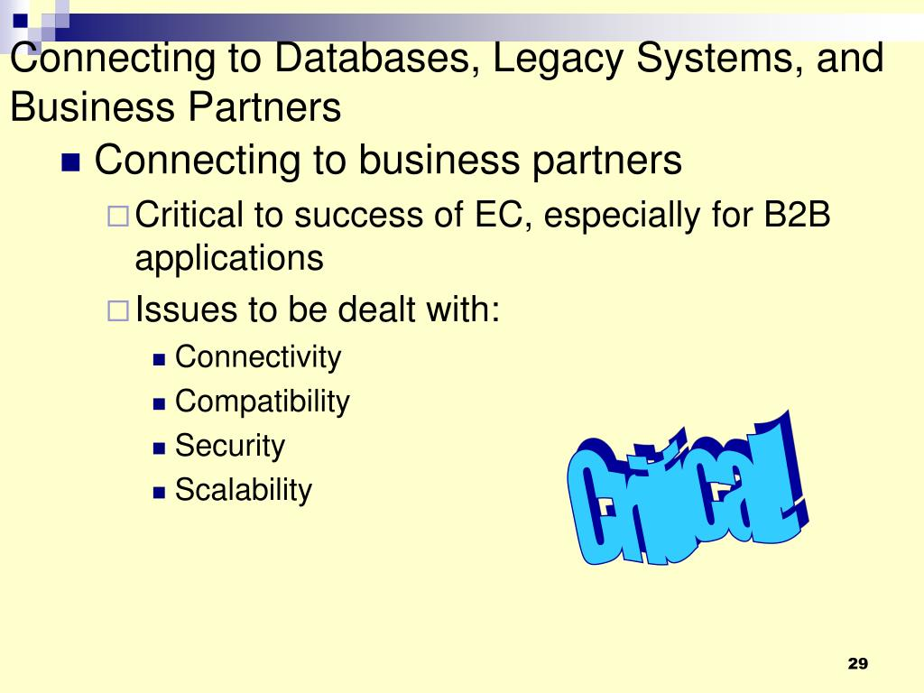 Connecting to Databases, Legacy Systems, and Business Partners