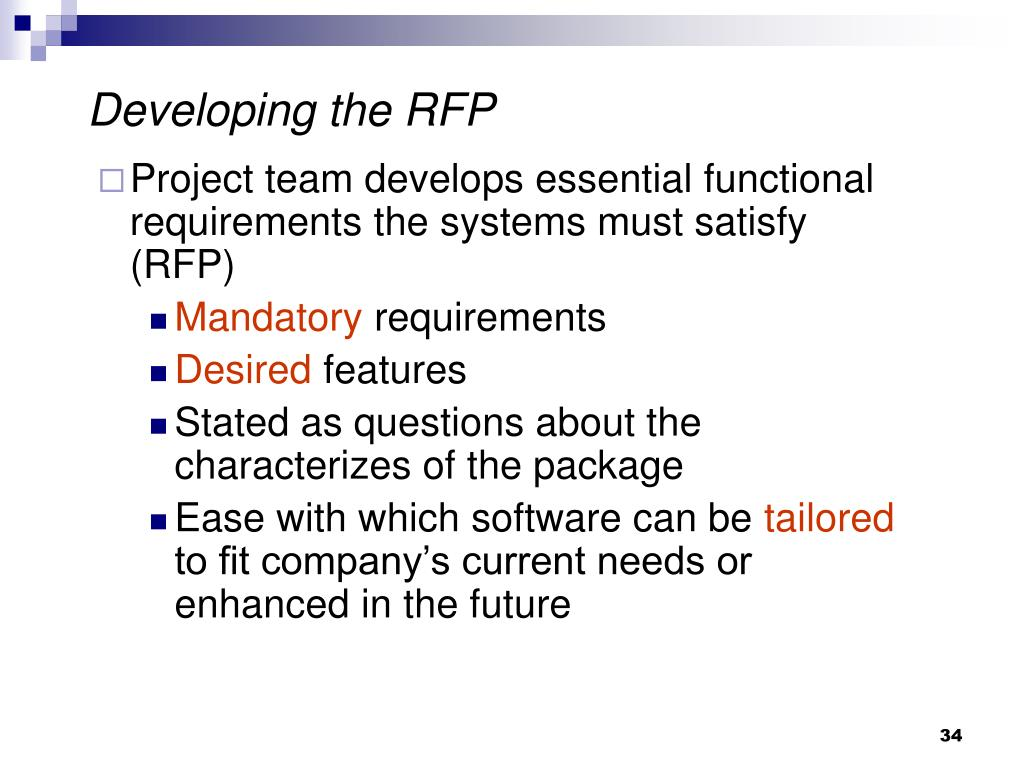 Developing the RFP