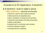 example of an ec applications a storefront
