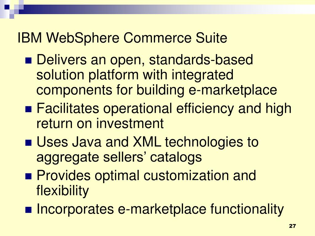 IBM WebSphere Commerce Suite