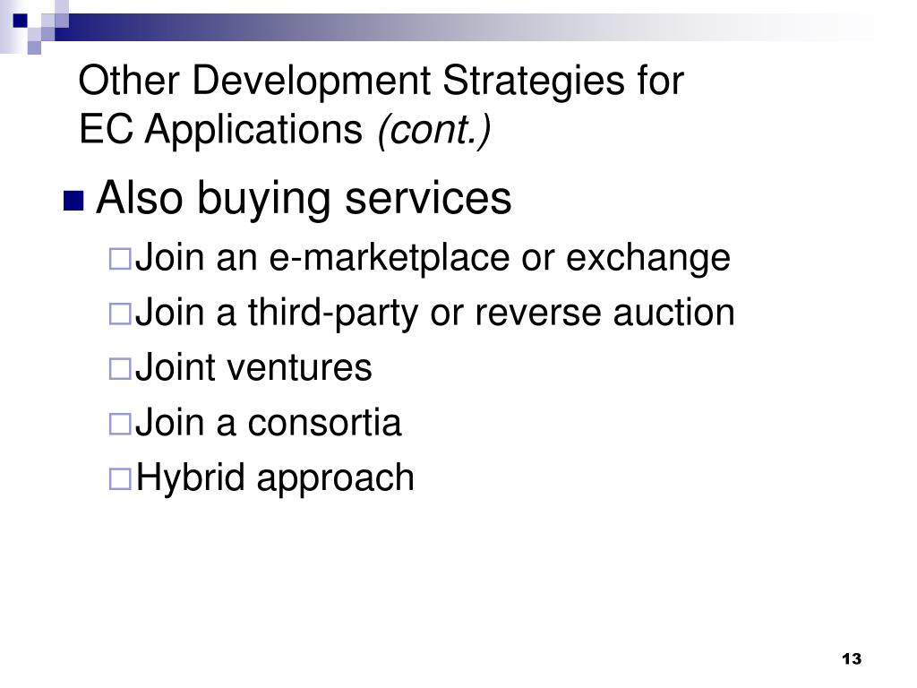 Other Development Strategies for