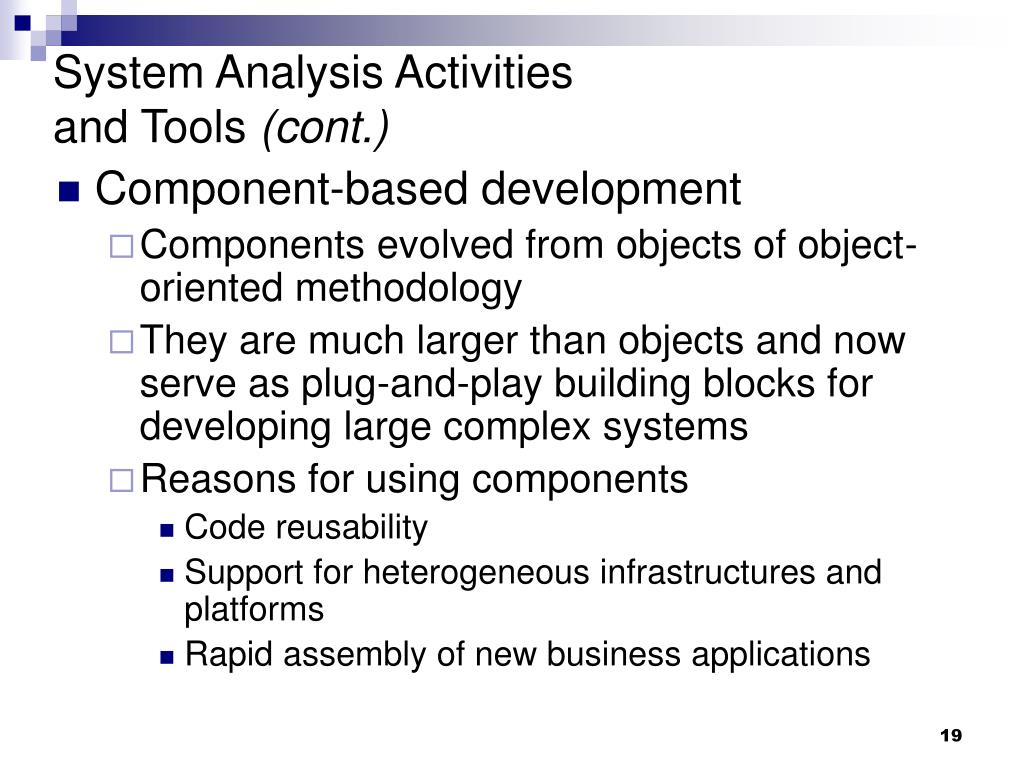 System Analysis Activities