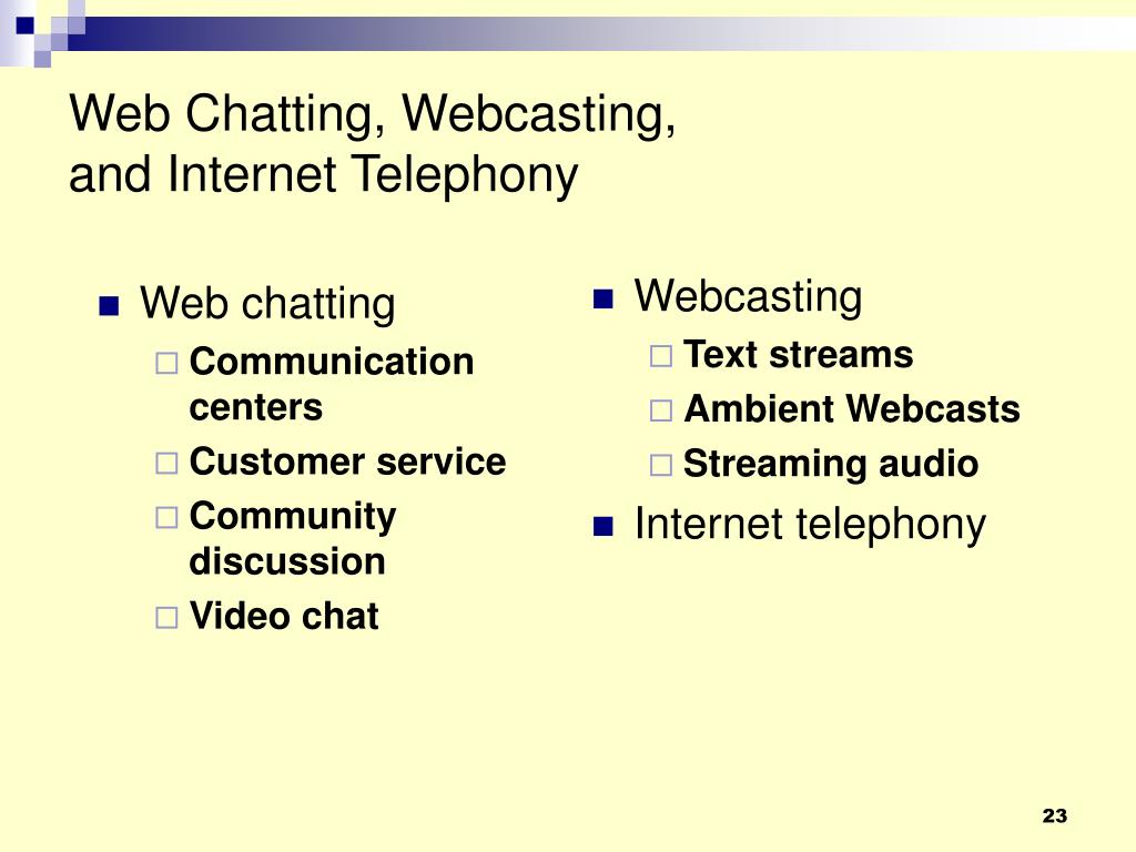 Web chatting