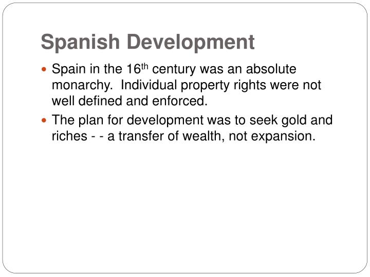 Spanish Development