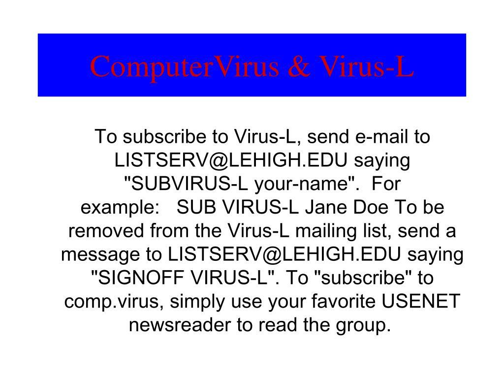 ComputerVirus & Virus-L