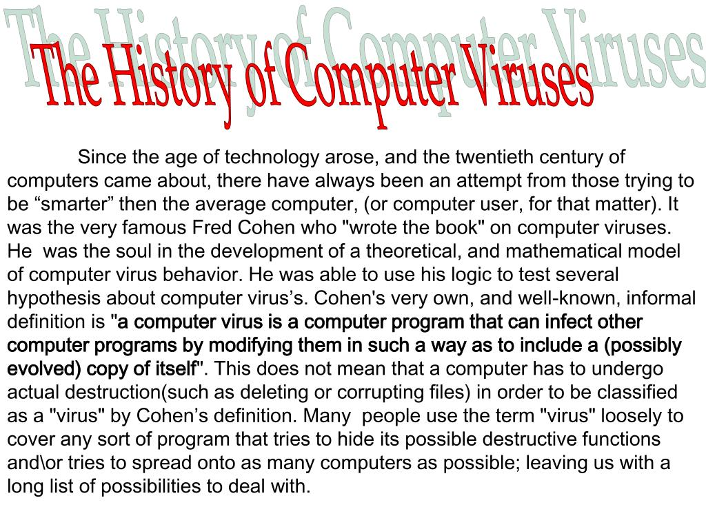 The History of Computer Viruses