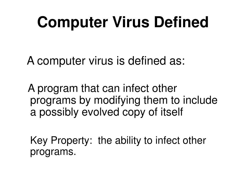 Computer Virus Defined