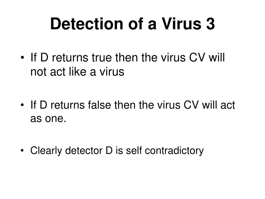 Detection of a Virus 3
