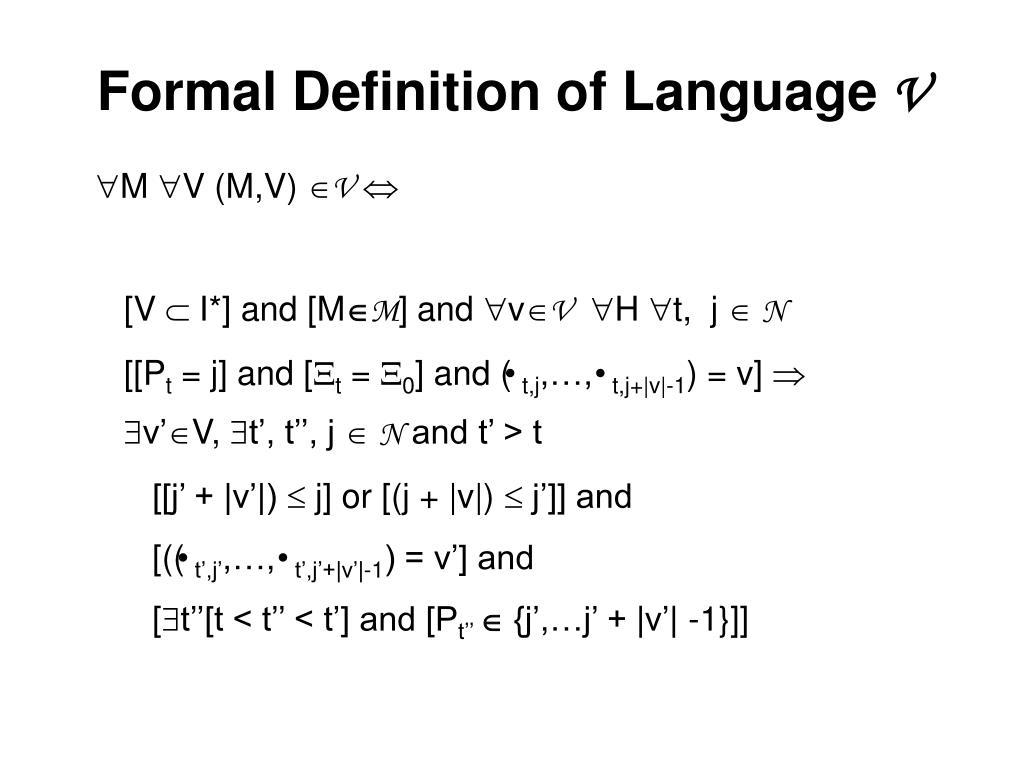 Formal Definition of Language