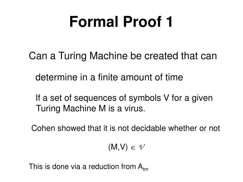 Formal Proof 1