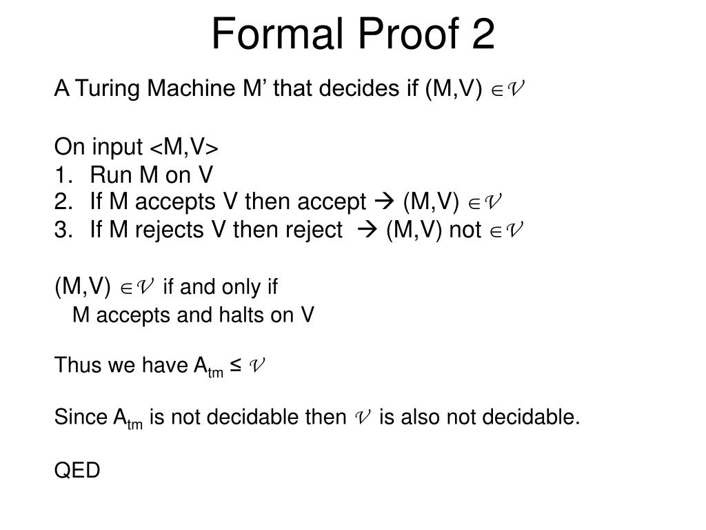 Formal Proof 2