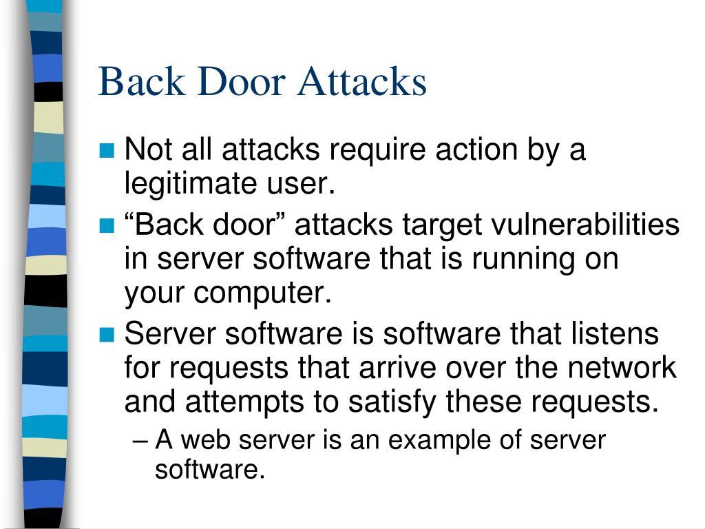 Back Door Attacks
