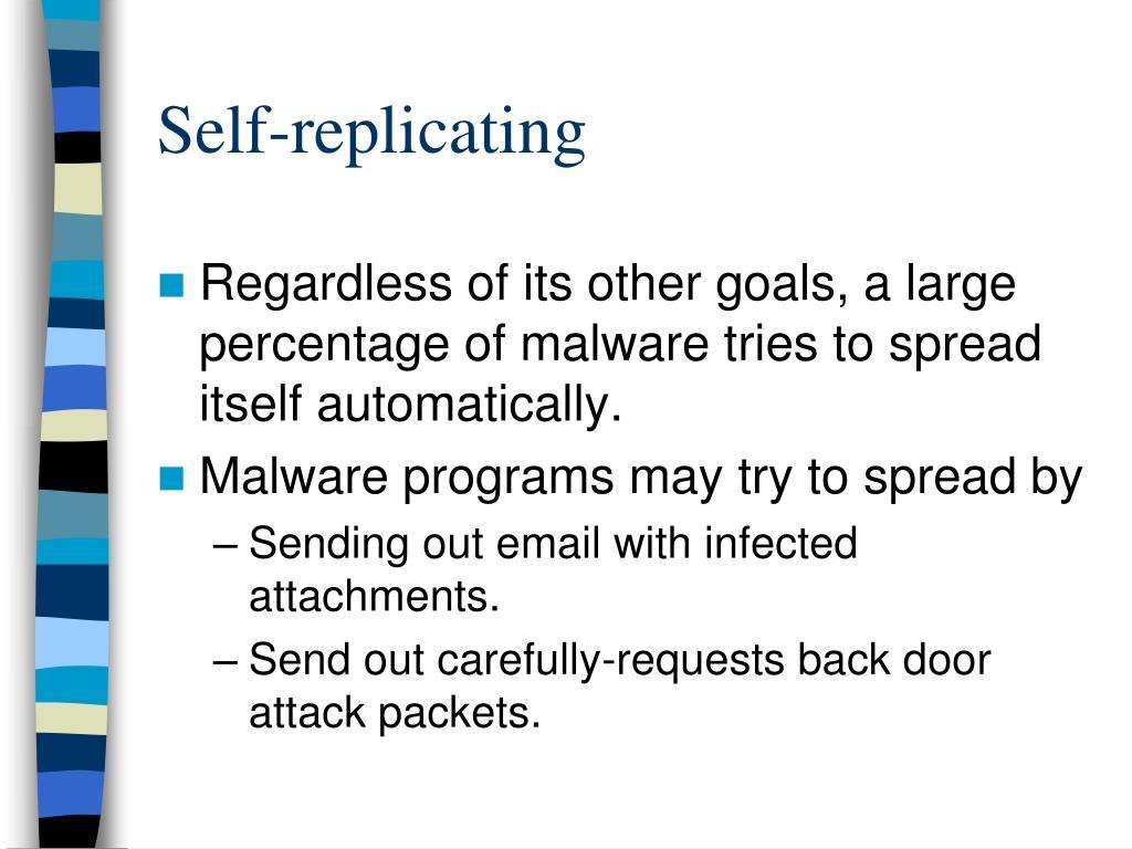 Self-replicating
