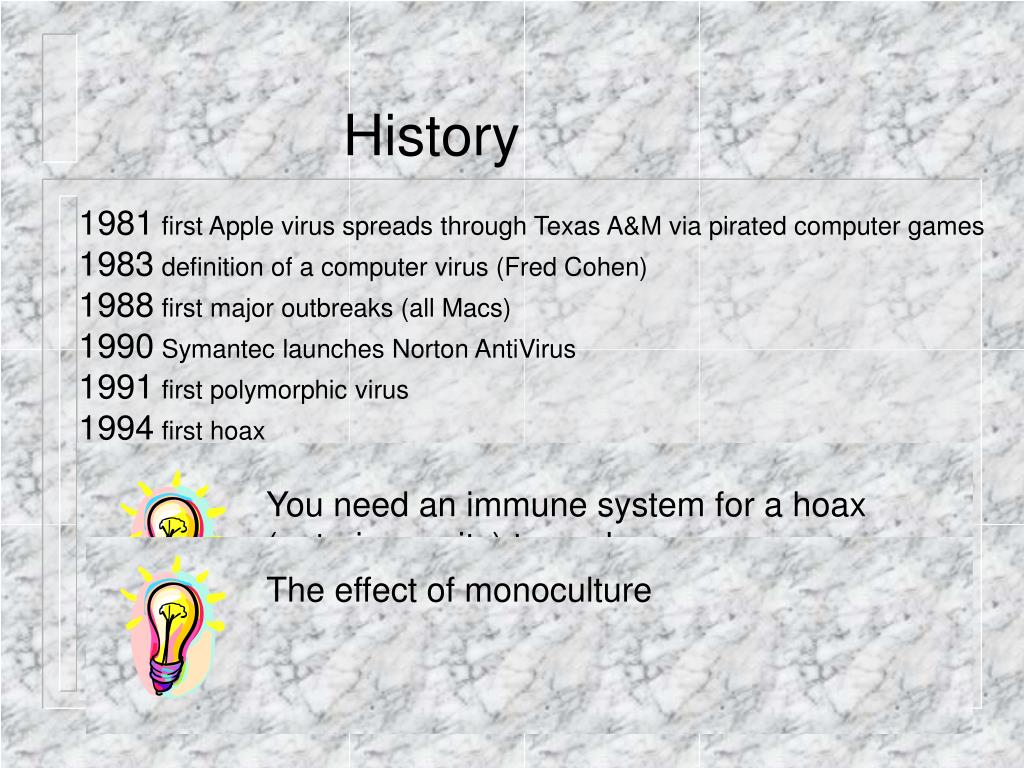 You need an immune system for a hoax (auto-immunity) to work
