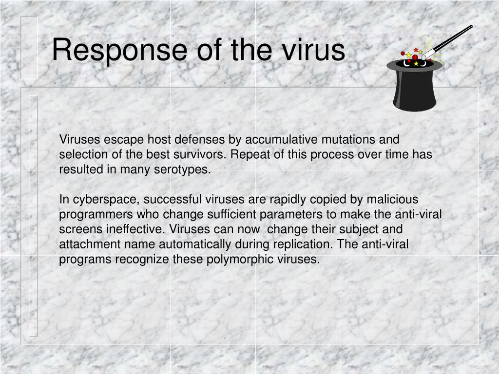 Response of the virus