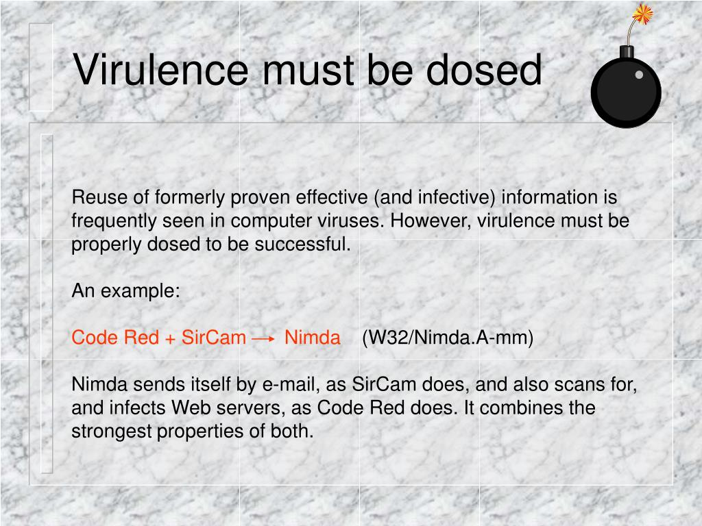 Virulence must be dosed