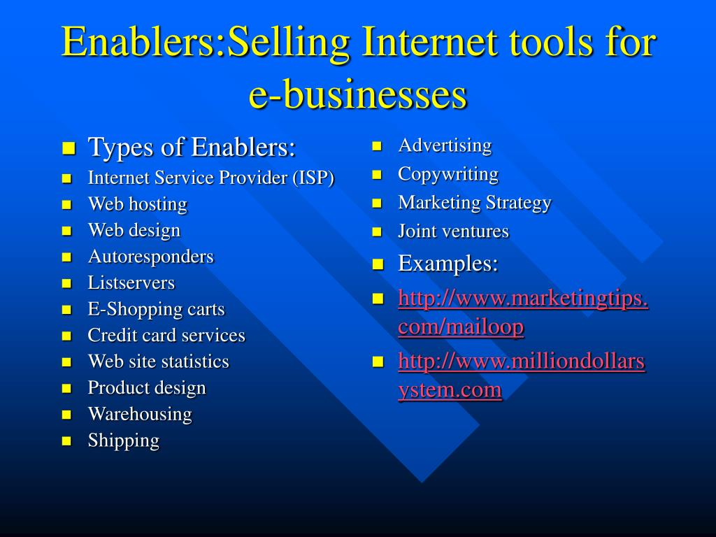 Types of Enablers: