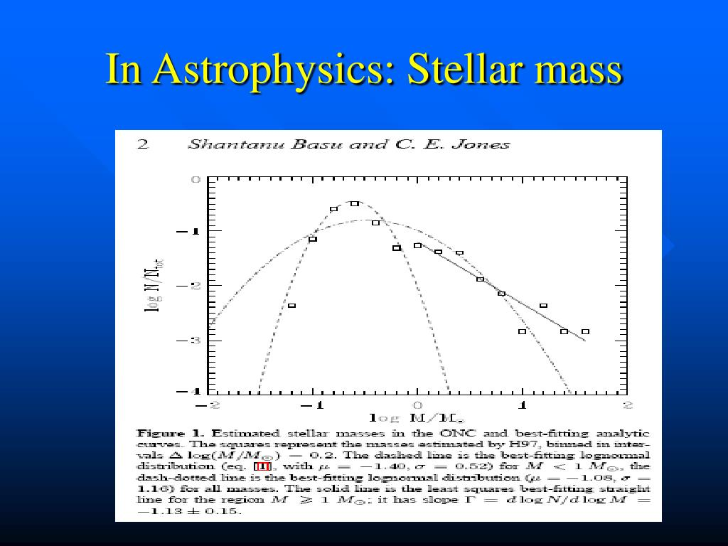 In Astrophysics: Stellar mass