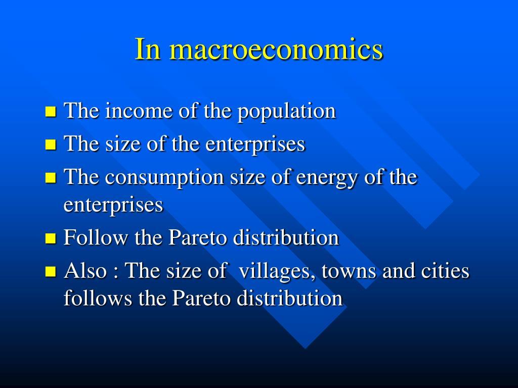 In macroeconomics