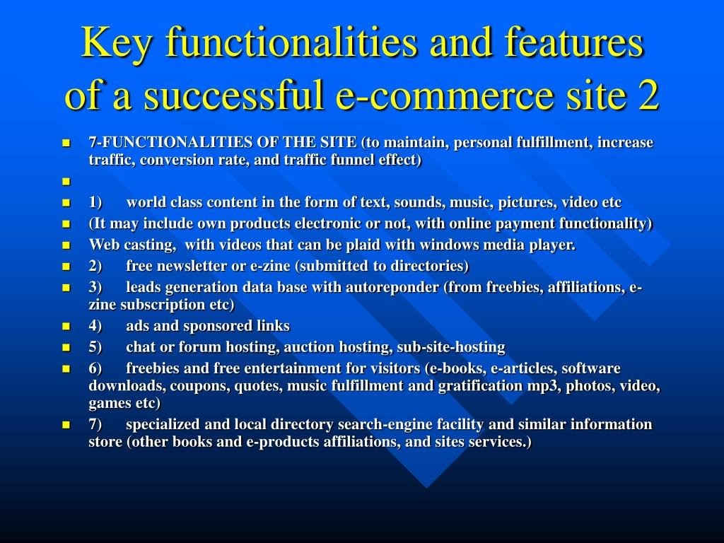 Key functionalities and features of a successful e-commerce site 2