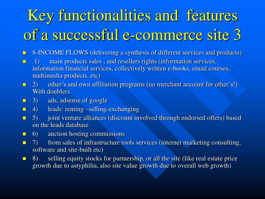 Key functionalities and  features of a successful e-commerce site 3