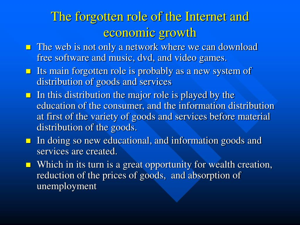 The forgotten role of the Internet and economic growth