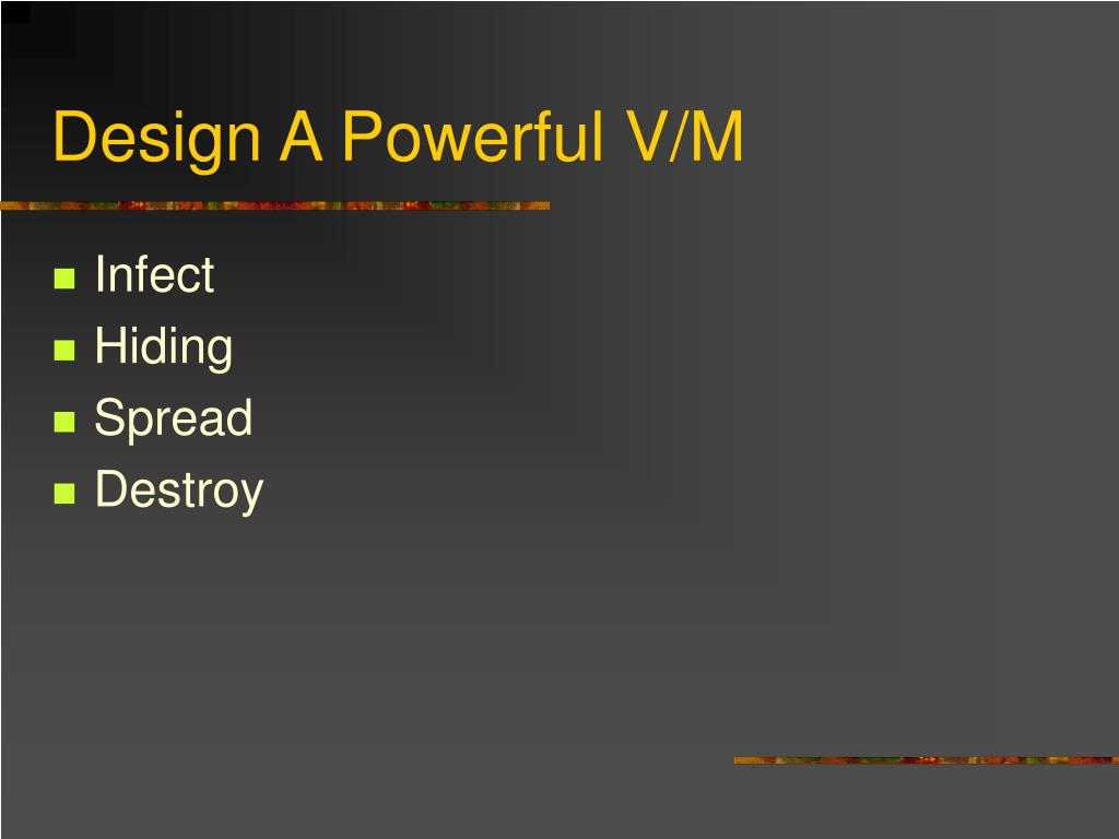 Design A Powerful V/M