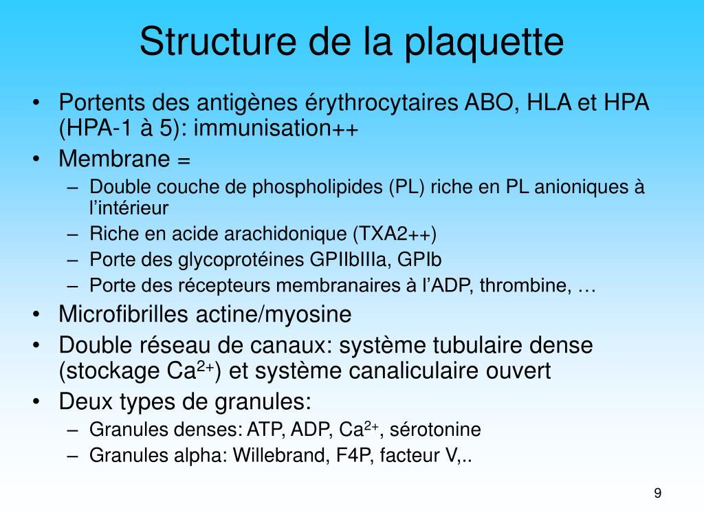 Structure de la plaquette