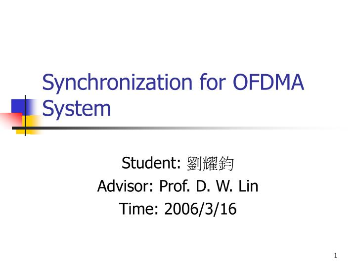 ofdm thesis 2004 Basic ofdm version 10 here are the files for a ofdm matlab code or something similarsuggest me how to start my master thesis refering 80216-2004 ofdm.
